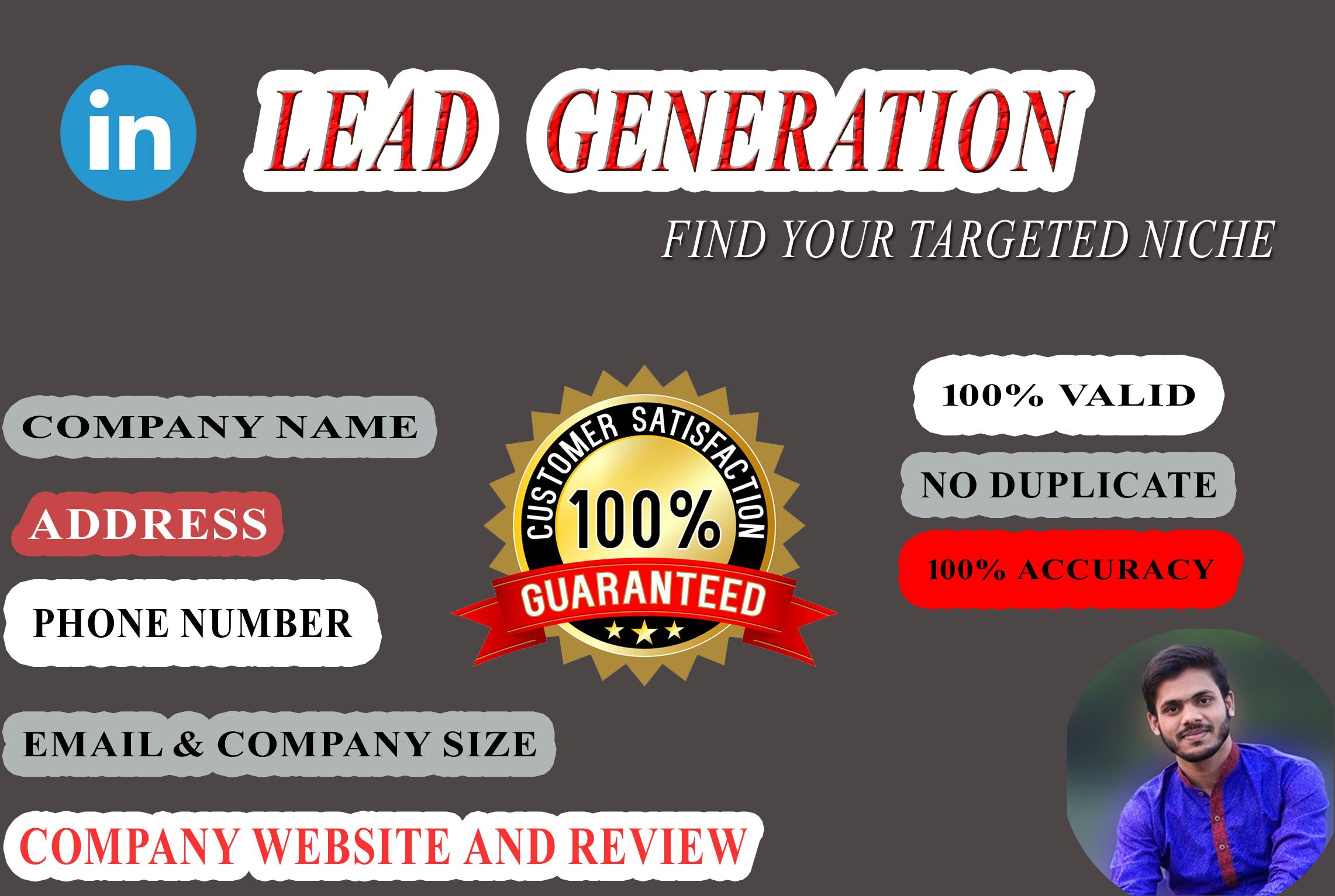 I will Provide you 50 B2B Leads or Linkedin leads