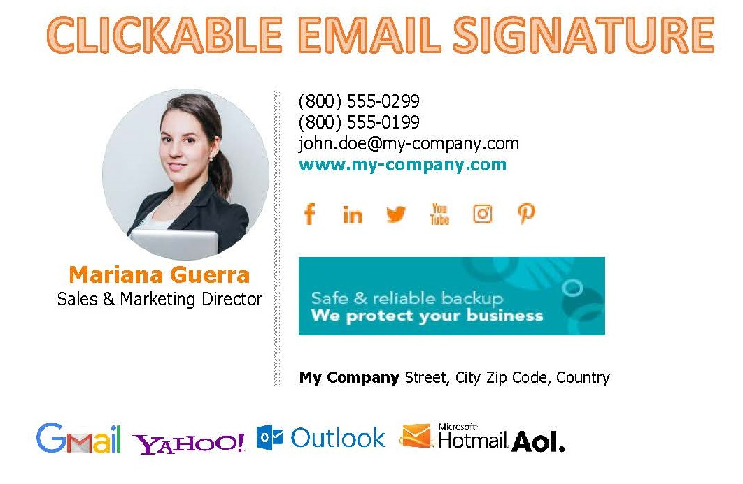 I will design an exclusively clickable html email signature within 2 hours