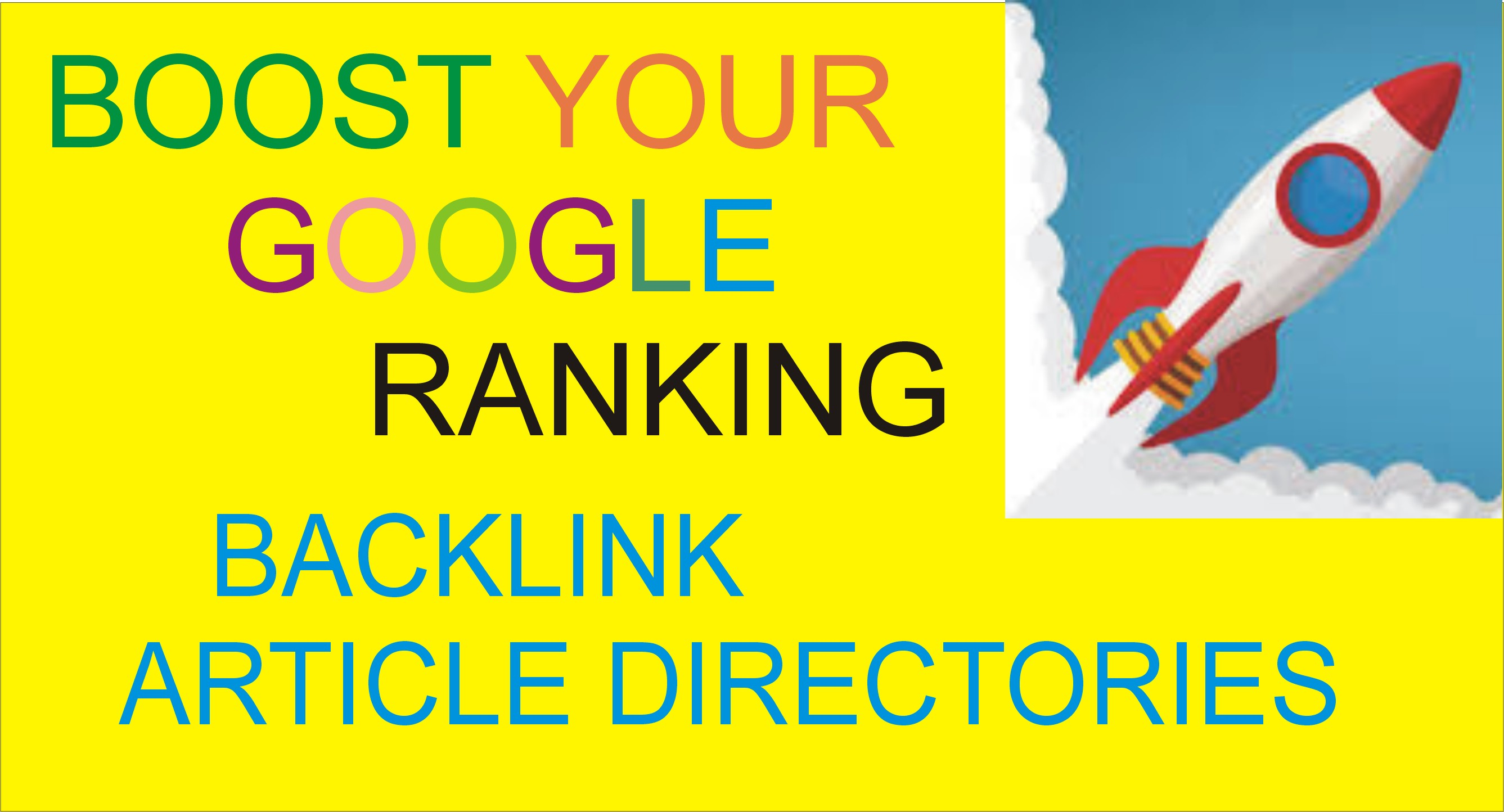 200 Article Directories Backlinks To provide Google Ranking Improves