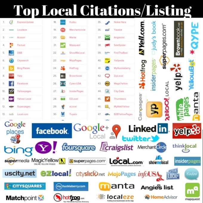 I will Do 30 top local SEO citation for your website