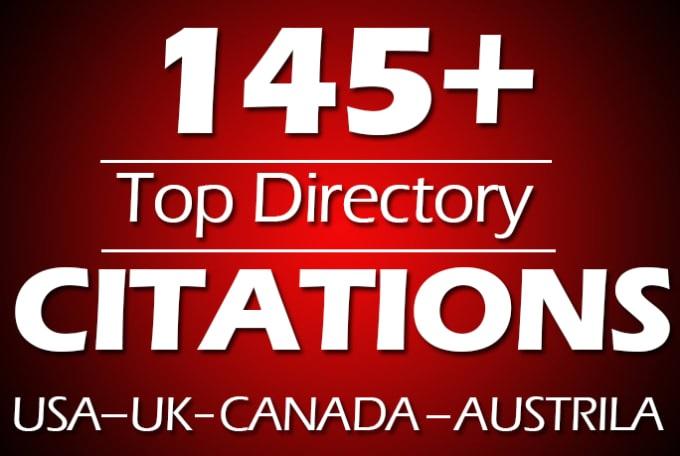 I will do manually 50 local citations for usa,  uk,  canada local SEO