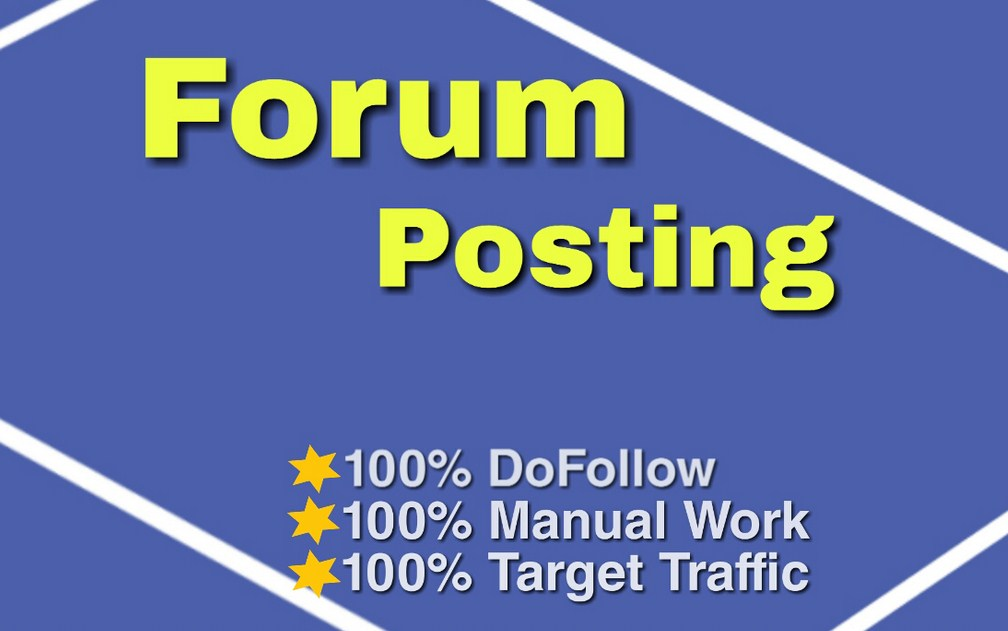 I will do 100 forum posting backlinks,  da 50 plus