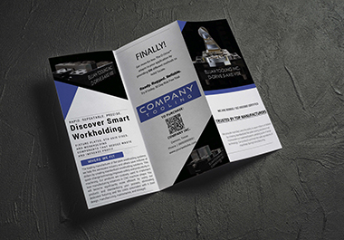 I will design attractive trifold brochure,  flyer,  leaflet etc