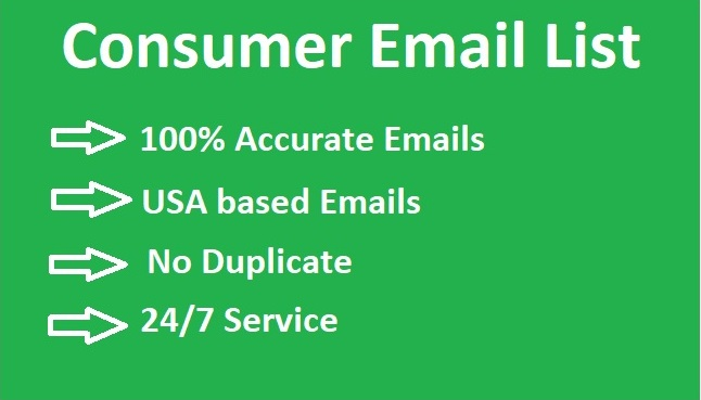 I will Provide you 2k USA based Consumer Email