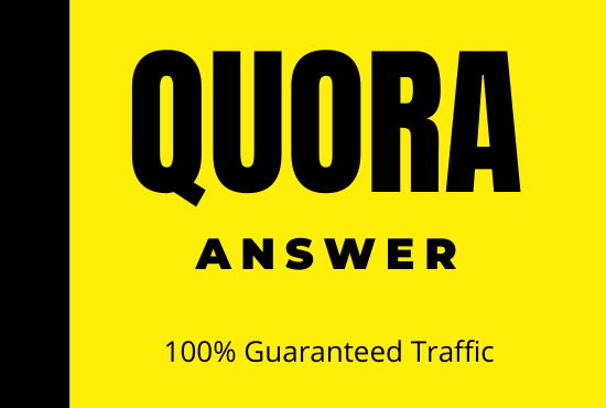 Get targeted traffic with 20 High Quality Quora Answers