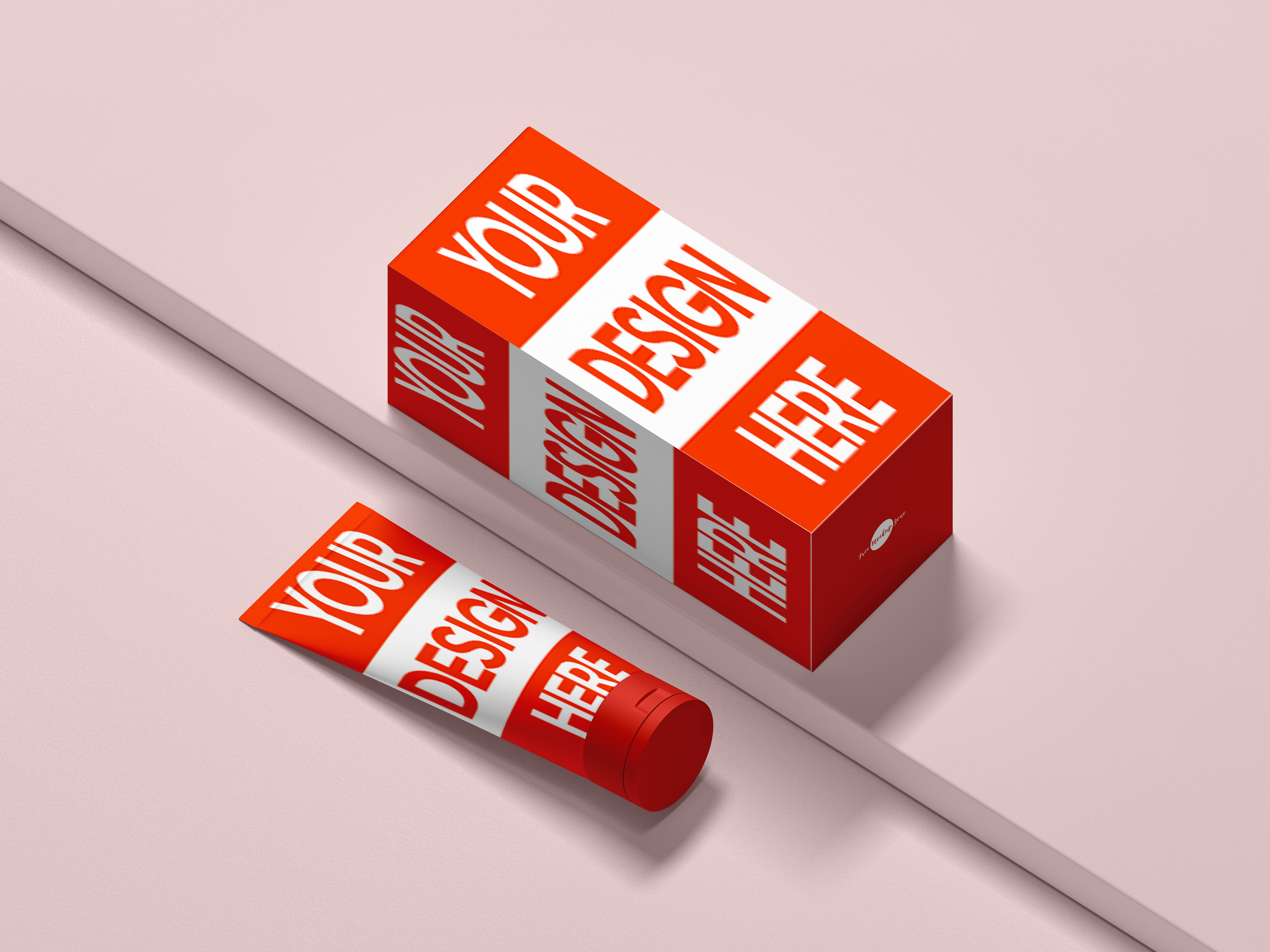 Create product packaging design and label mockup