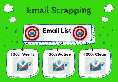 provide active verified clean and targeted email list