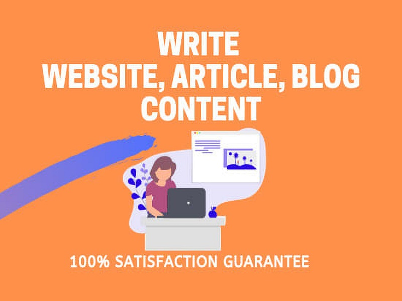 I will write 1000+ words SEO article writing,  blog post and website content