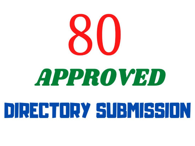 I will create 80 directory submission manually on High PR sites
