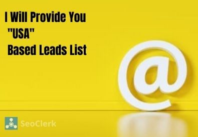 I Will Provide You 'USA' Based Active Leads - 100% Guarantee