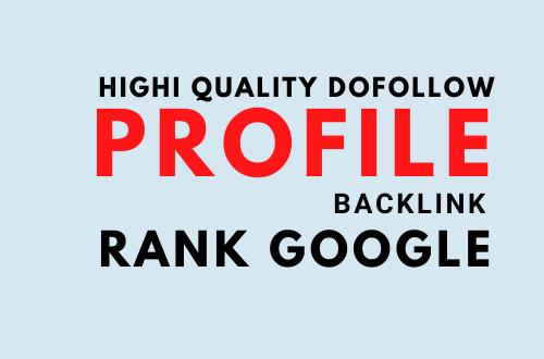 I will provide 20 do follow high da profile backlinks for you