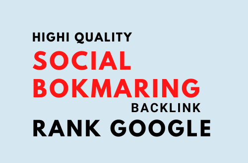 I will do 50 plus social bookmarking submission with high quality backlinks