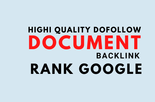 I will do 25 document sharing high quality backlink