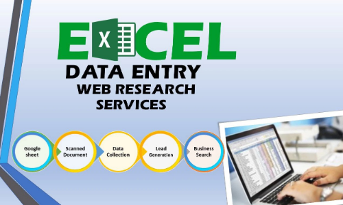 I Will do 100 manual Excel Data Entry