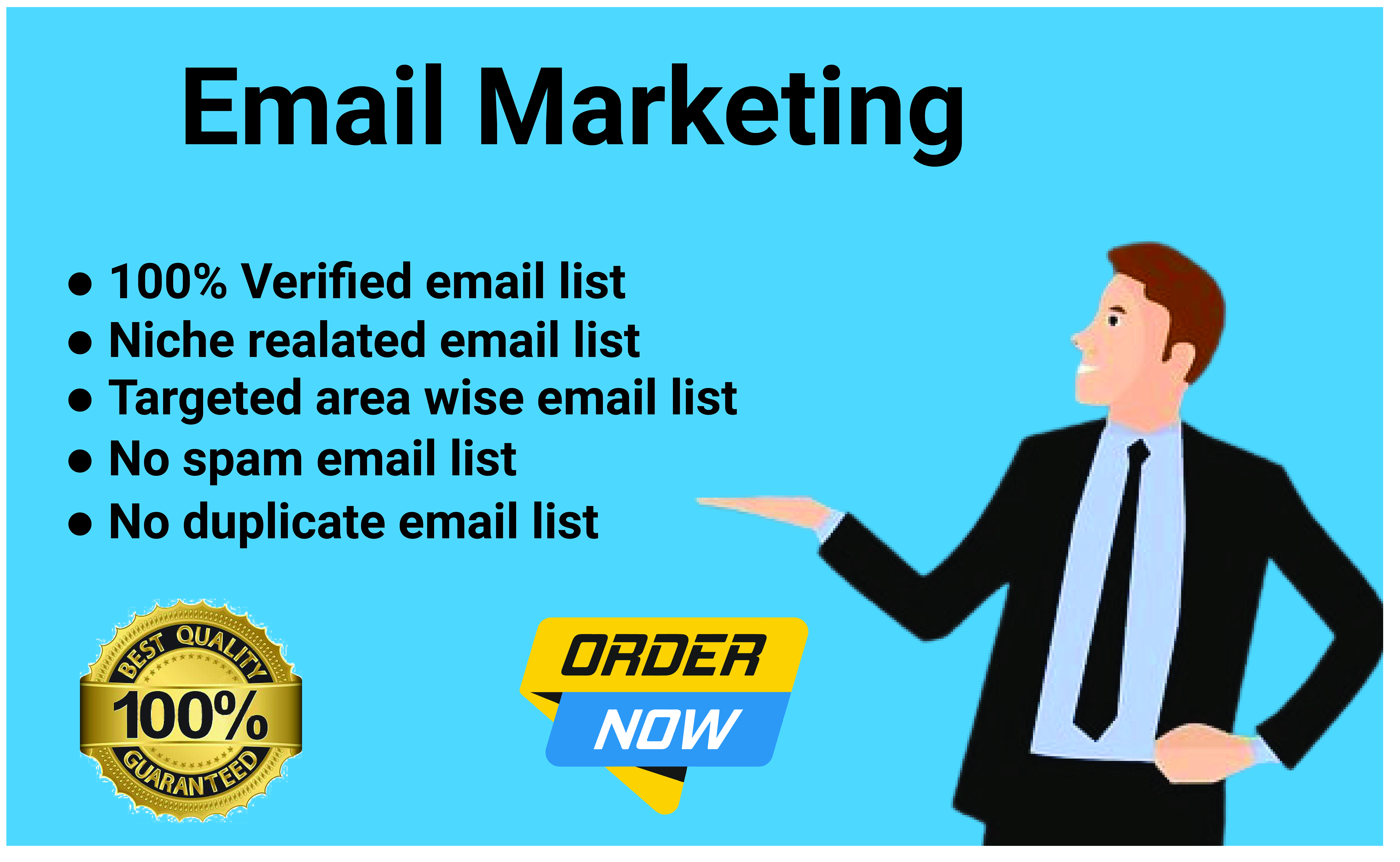 I will create targeted audience 500 email list to grow your business