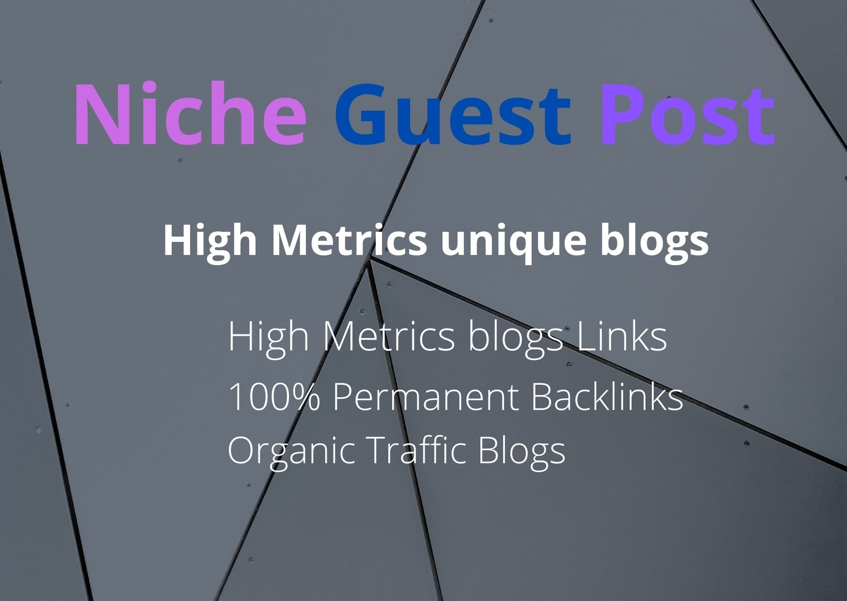 I will write and publish 10 niche guest post on high authority sites