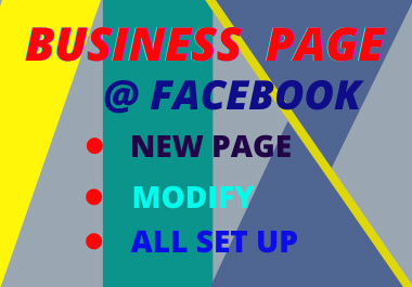 I will Create & Build Up your Facebook Business Page