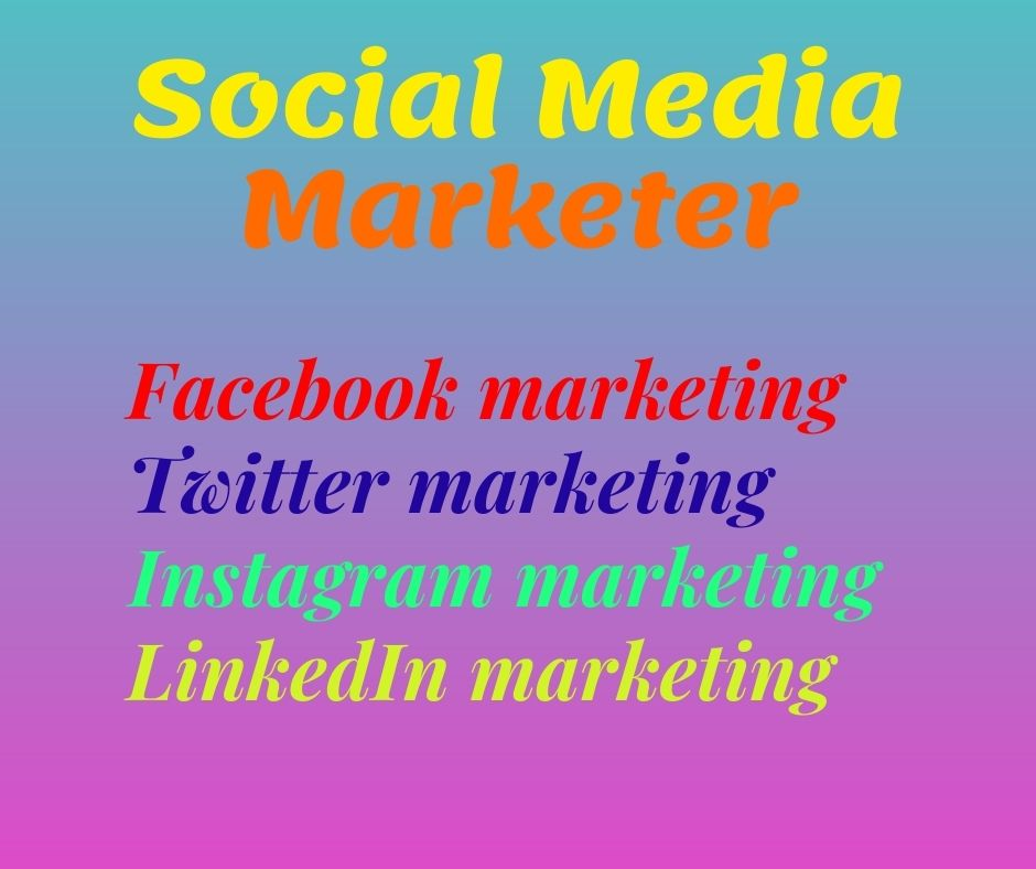 I will Professional Digital Marketer of modern social media manager
