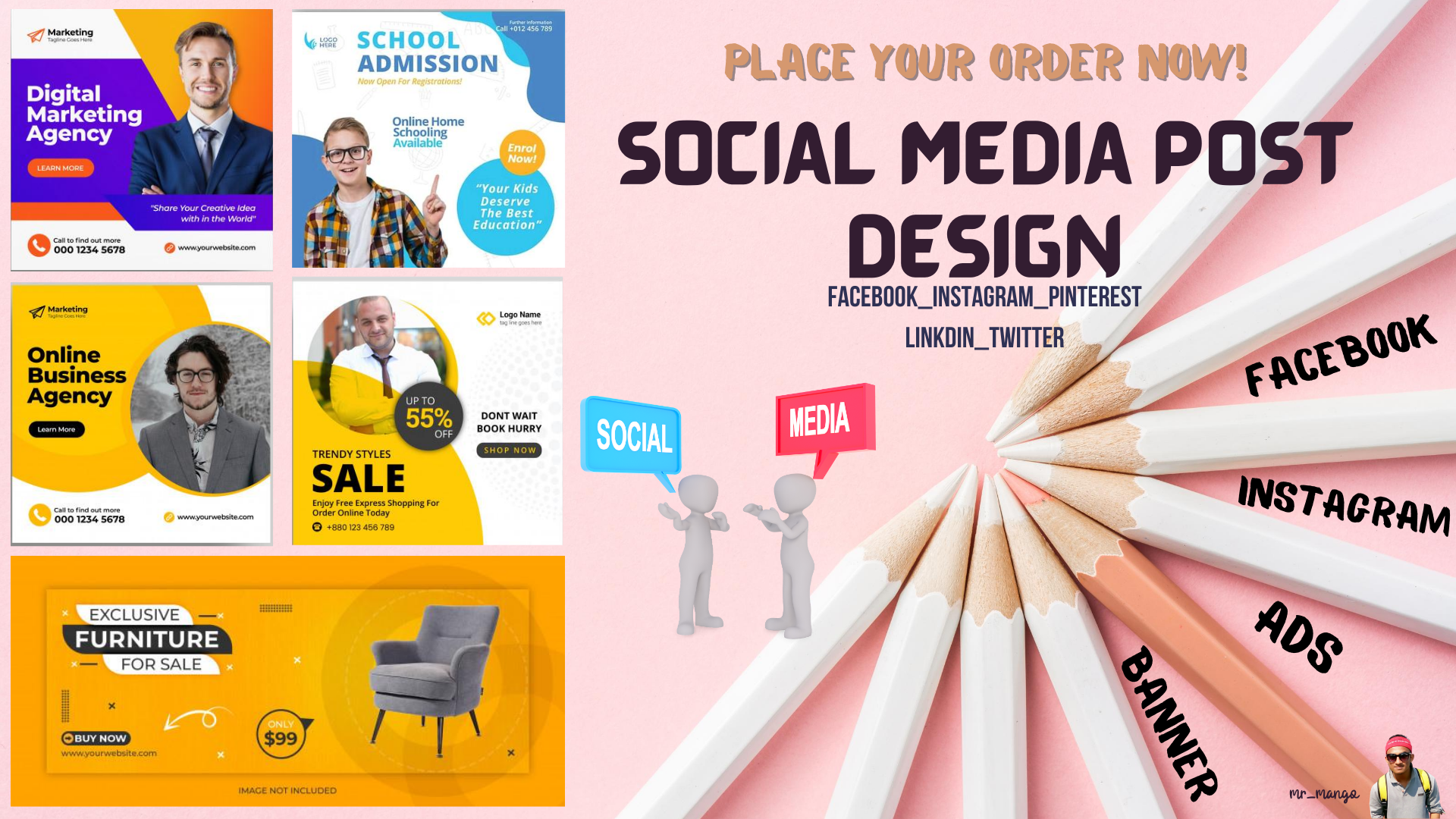 I will create unique social media ads design using canva pro & illustrator
