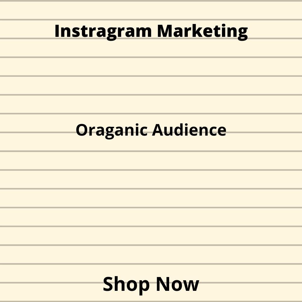 I will do Instragram Promotion and instragram marketing.