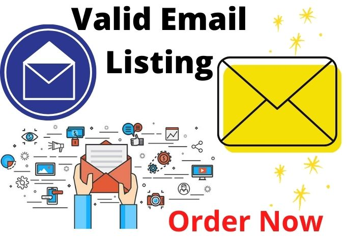 I will send Verified Email list to make your business bigger