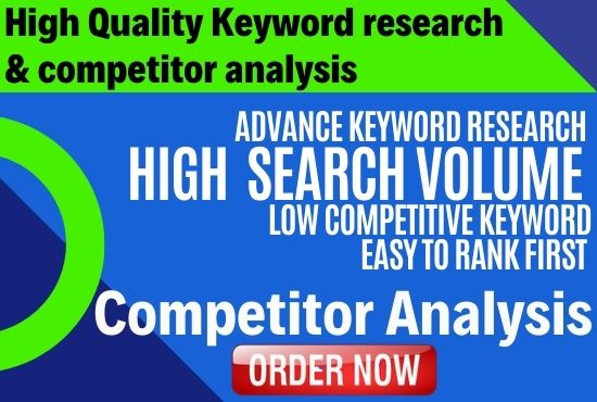 I will do search Engine Optimized Keyword research and Competitor analysis
