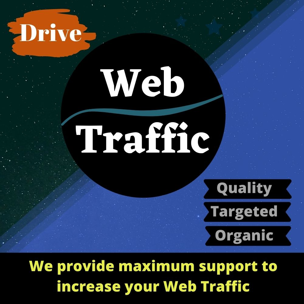 I will drive real and targeted global web traffic