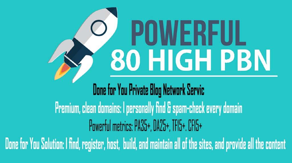 manually 80 PowerFul High PBN Permanent Manual Homepage PBN Links