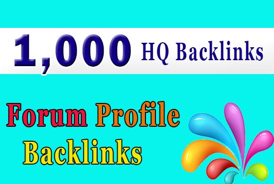 Get 1000 forum profiles backlinks for your website