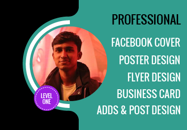 I will design amazing Facebook cover,  flyer & socal post