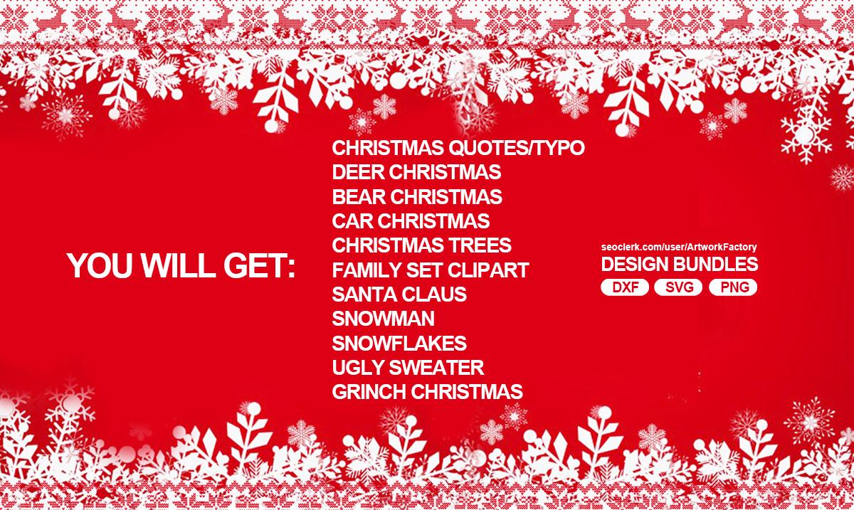 Deliver 1500 Christmas design SVG, Christmas T-shirt design bundles