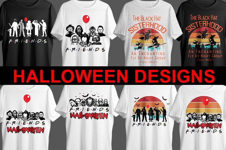 Halloween Vector T shirt Design bundle