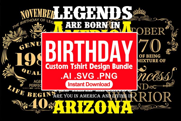 Delivery Custom Birthday T shirt Design Vector Bundle