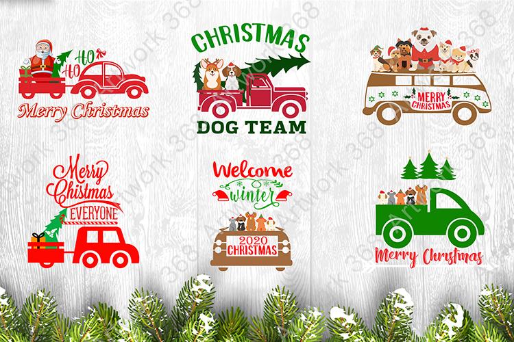 68 Car Christmas T shirt Design by vector Bundle