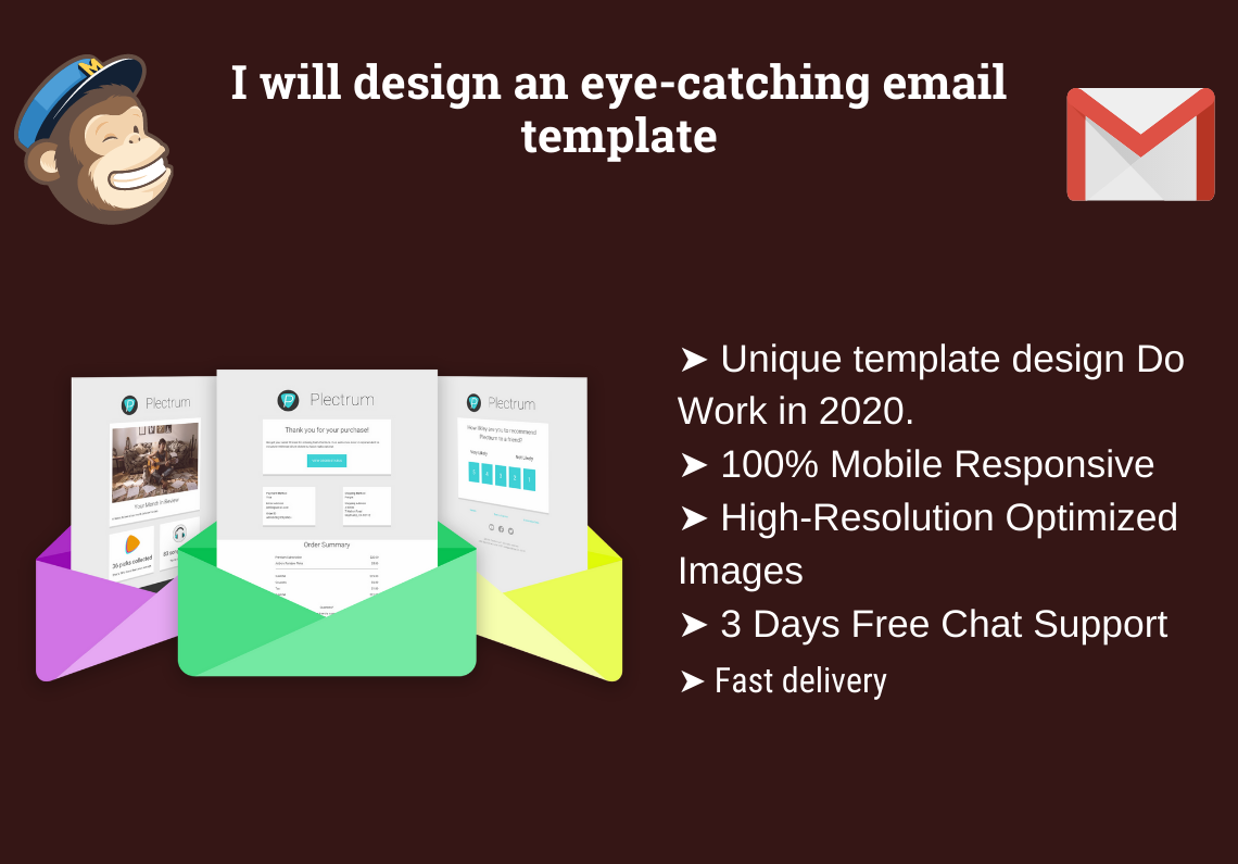 I will design an eye-catching email template