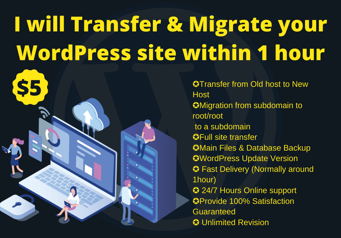 I will transfer & migrate your WordPress site within 1 hour