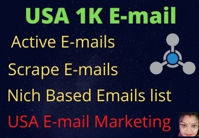 I will do USA 1k targeted active Bulk Email