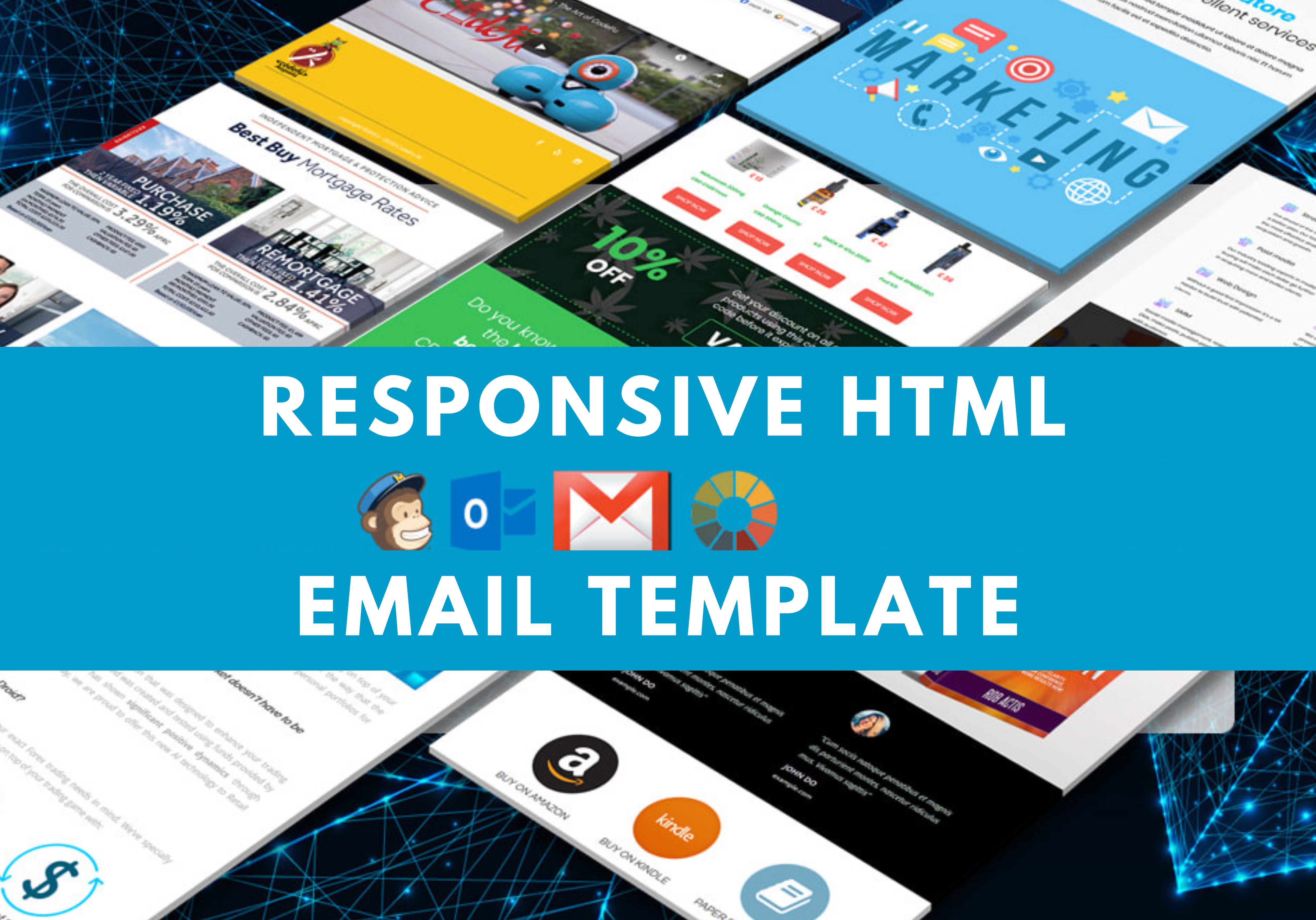I will design a professional responsive HTML email template or email newsletter
