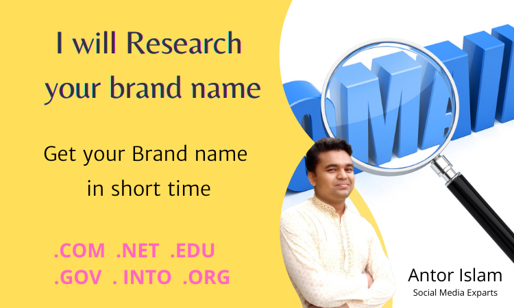 I will research your domain name for your brand