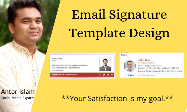 I will design email signature template for your business