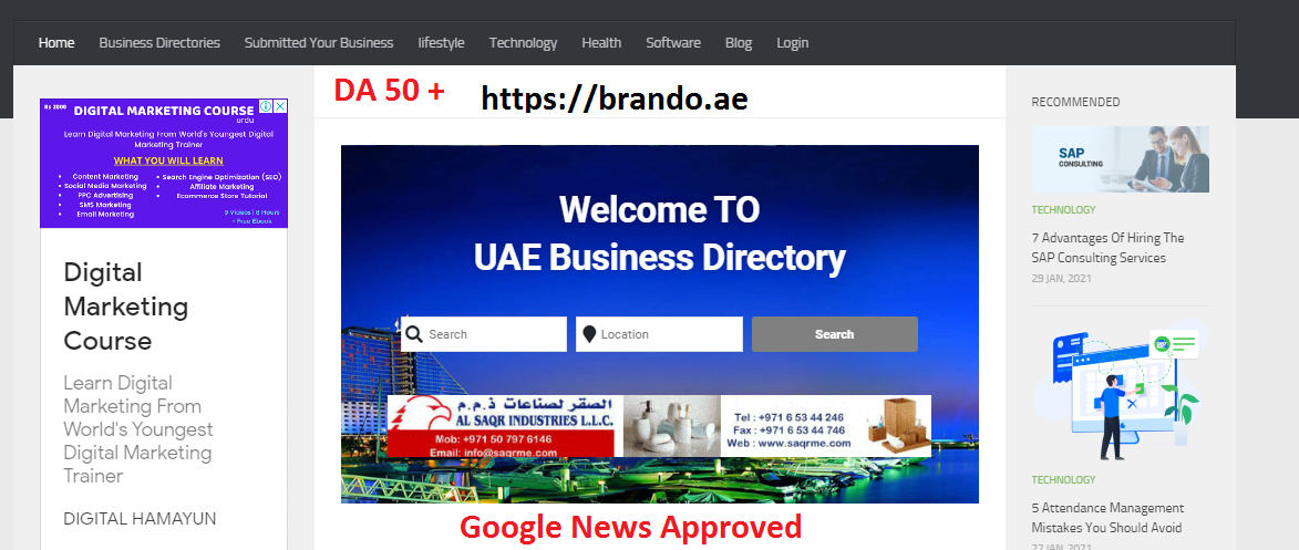 I will publish Guest Post Your content On DA 50 Google News Approved Website