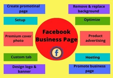 I will setup & optimize facebook business page, attractive cover photo, remove & replace background