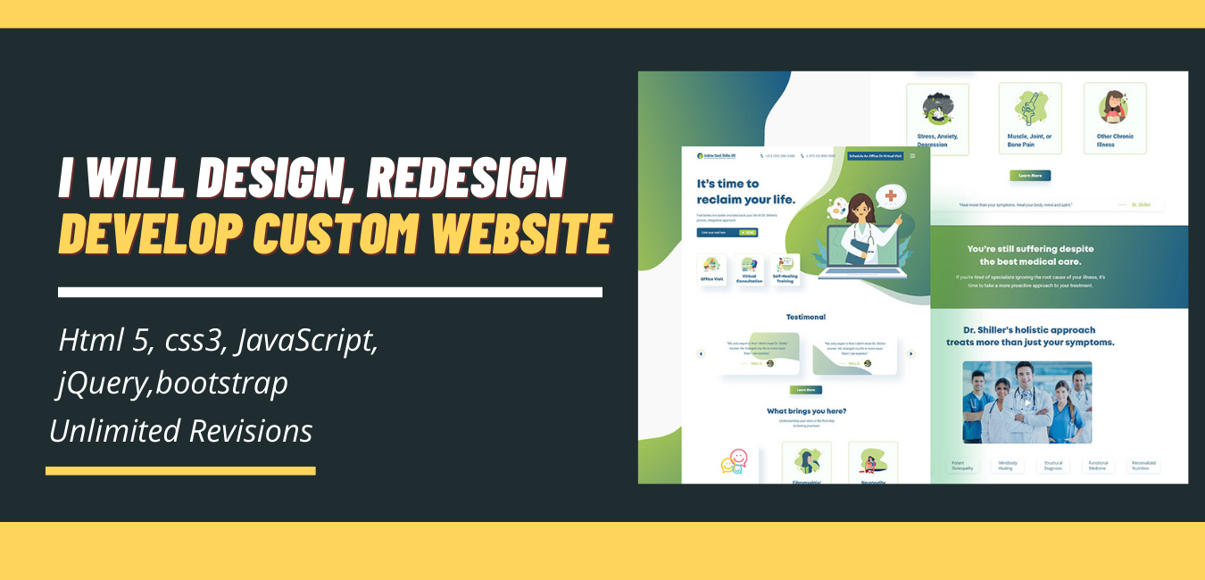 design,  redesign develop a custom website