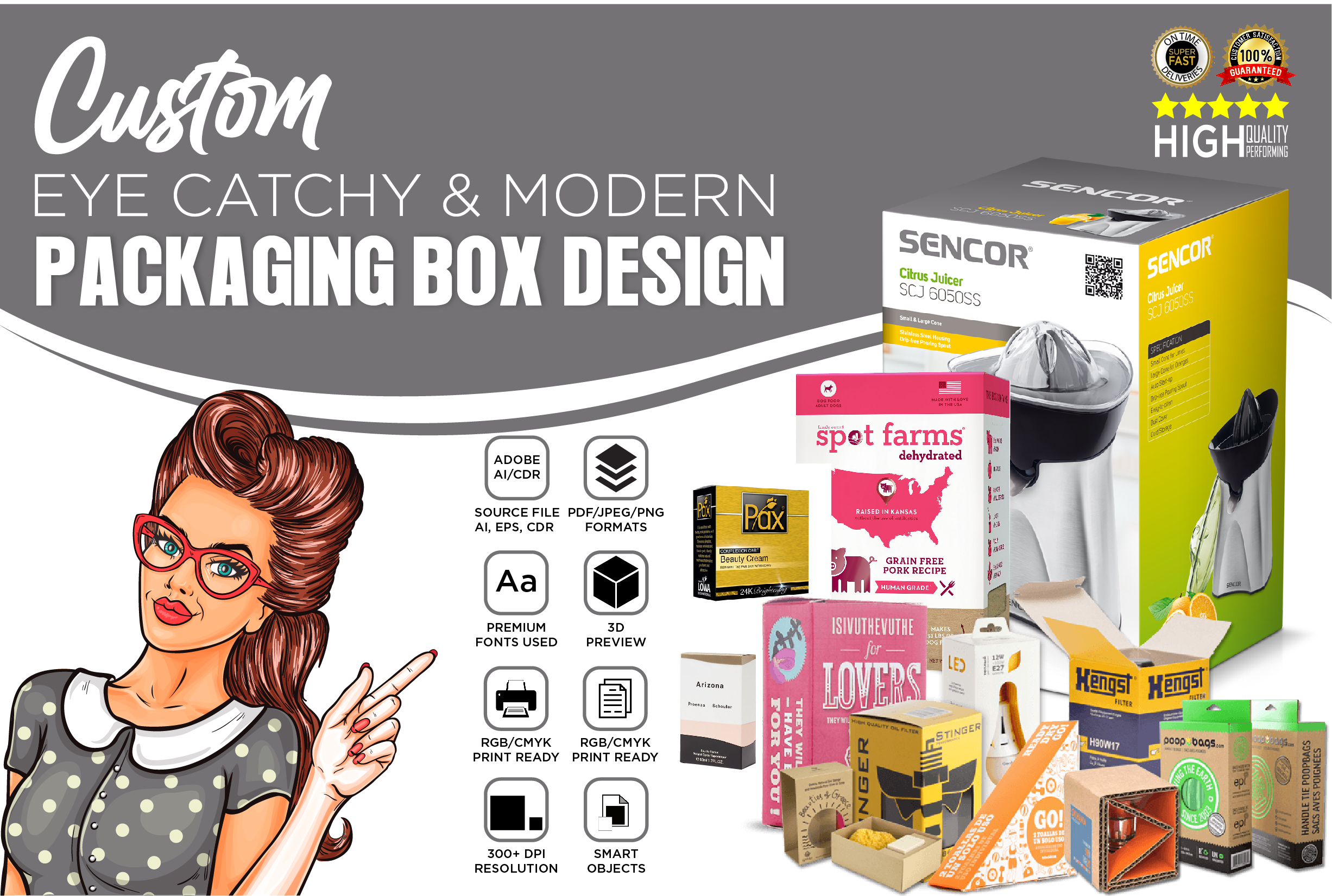 I will design product packaging box or product labeling