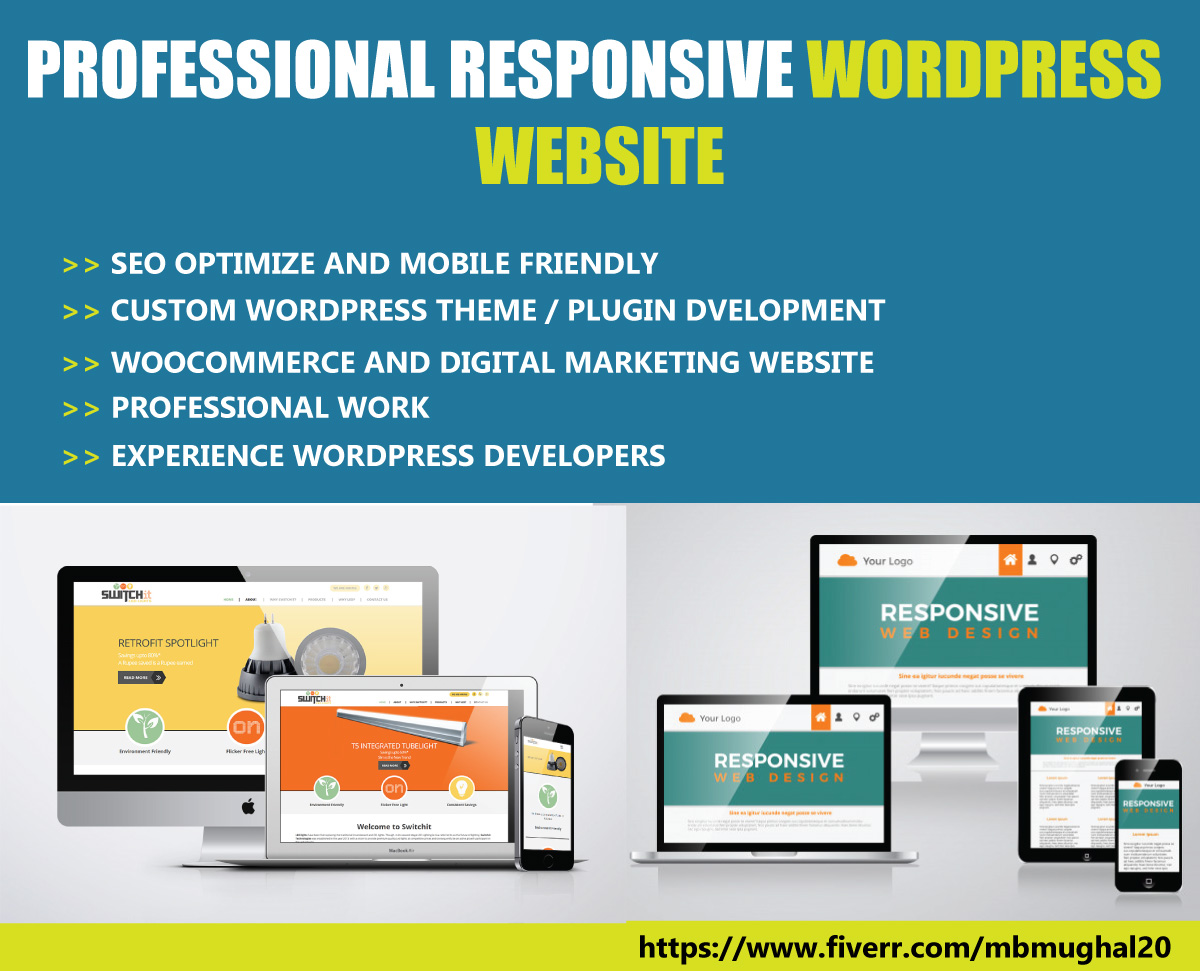 Design A SEO Optimize Professional And Responsive WordPress Website