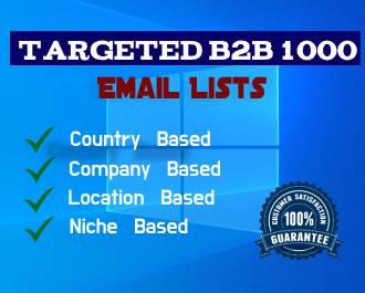 I Will Provide 1000 Targeted 2b2 Email Lists