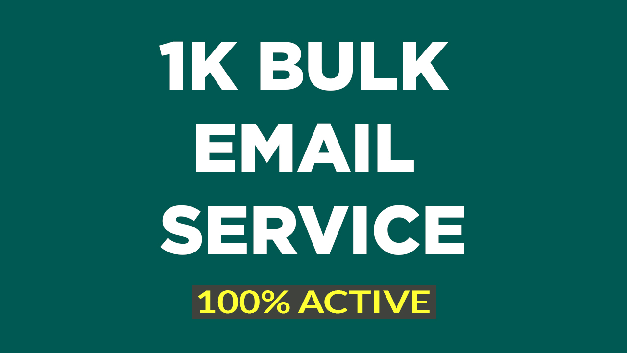 I will give you 1K targeted active email for business promotion in 24 hours