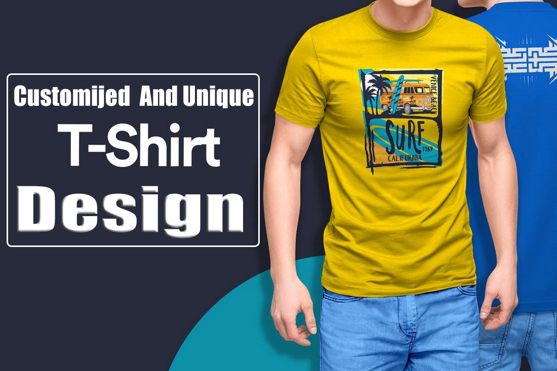 I will design unique customized t-shirt for any type of business