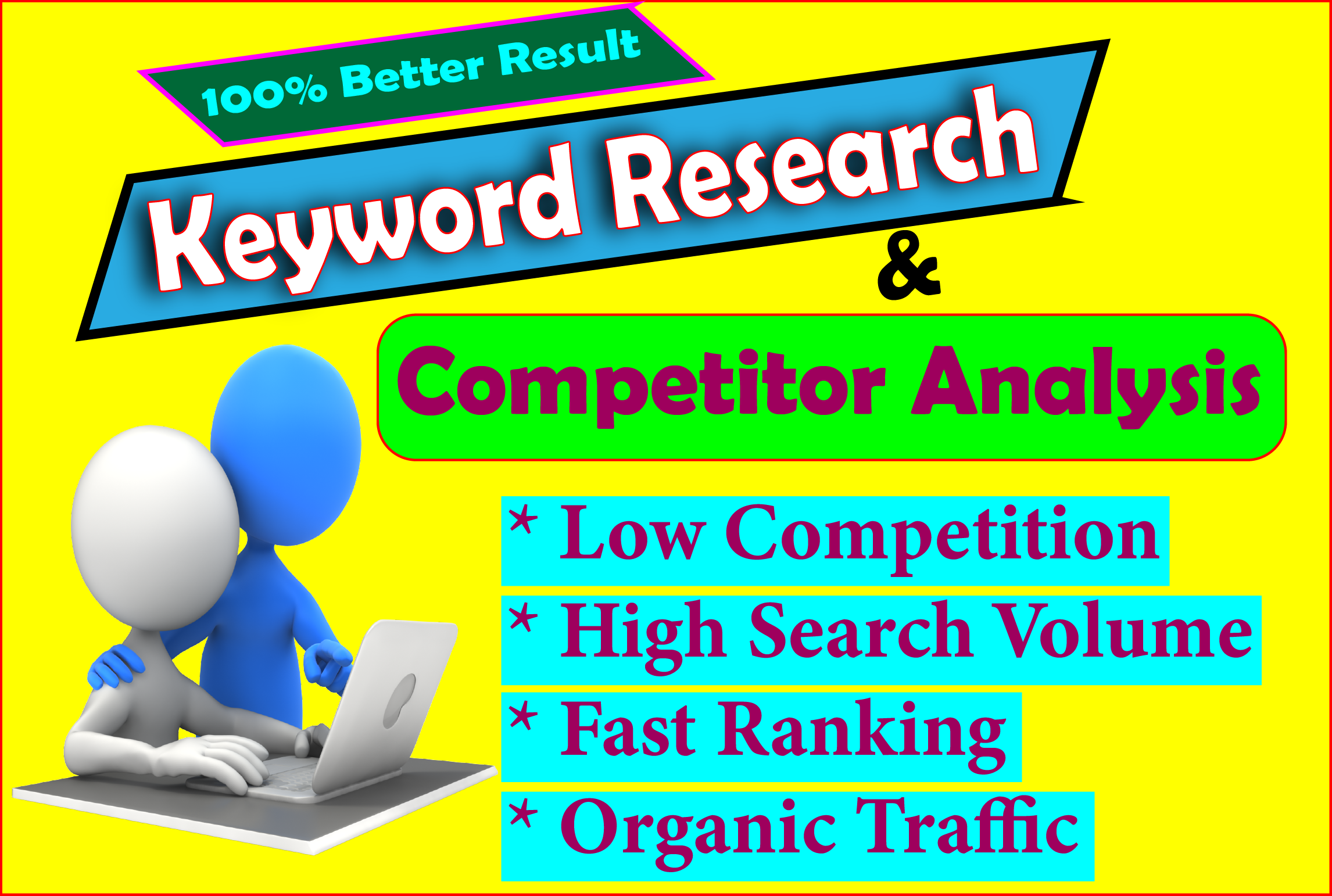 I provide best SEO keyword research and competitor analysis