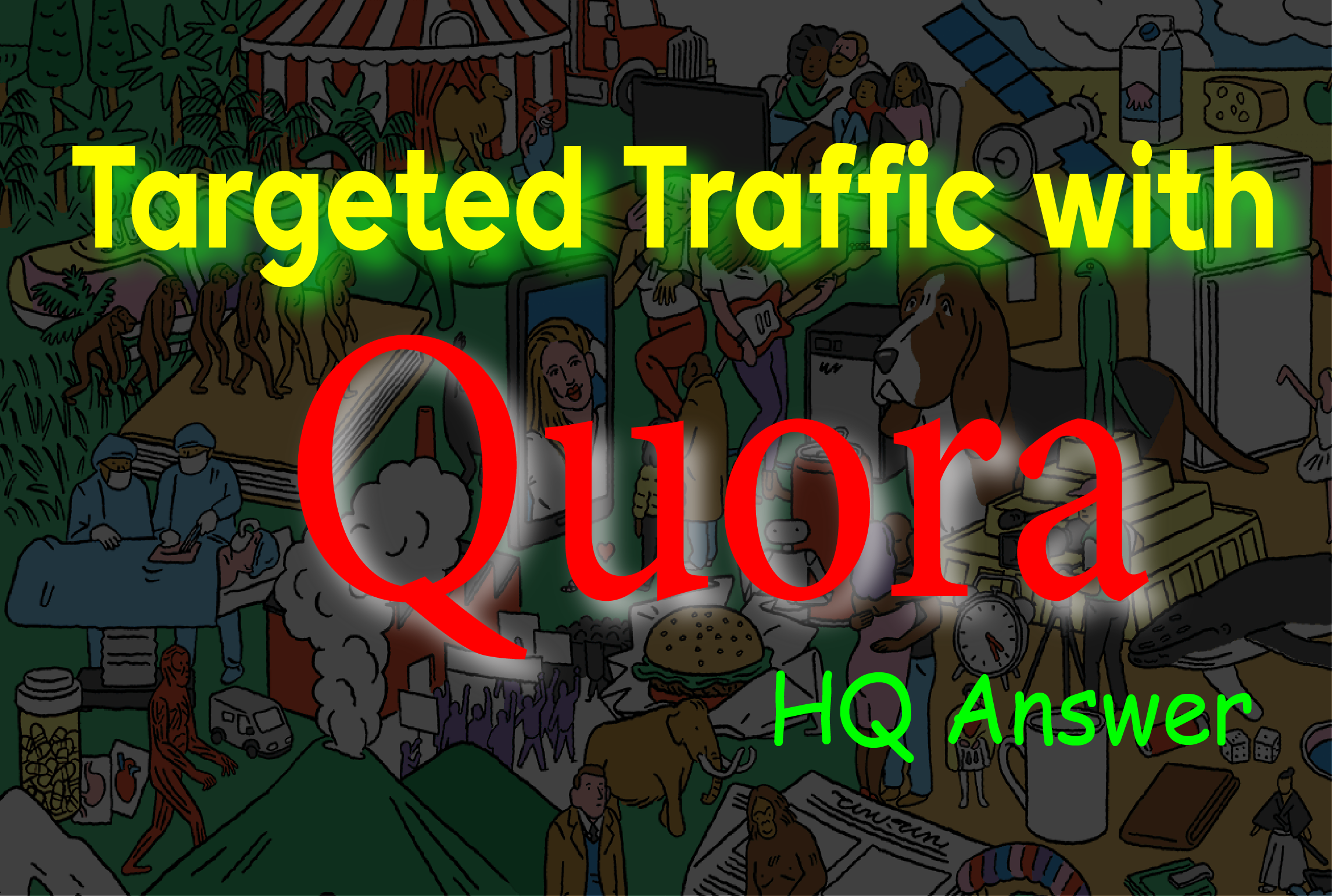 I provide HQ 50 Quora answer to promote your website